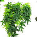 Искусственное растение, искусственная подвеска, искусственные листья из ротанга, зеленые ветки, Декор для дома и свадьбы, Осеннее растение