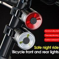Nuevo Producto de la bicicleta luz trasera de aleación de aluminio de casco luz de la noche montar advertencia luz para bicicleta de montaña faro LED de luz trasera