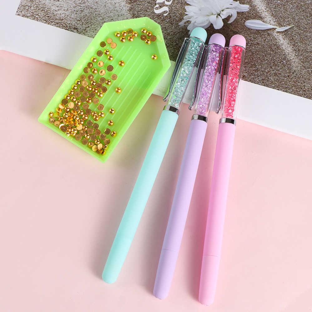 1 ud. Bolígrafo de punto de cruz de silicona de plástico 5D pintura de diamante bordado plumas de cristal Artículos y accesorios para costura