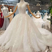 LSS068-1 free shipping wedding dress like white high neck cap sleeves sexy v-back long gown for wedding real price high quality цена