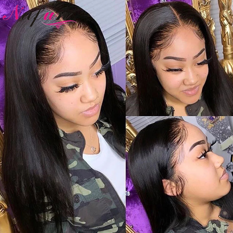 Straight Transparent Lace Wigs Lace Front Wigs For Women Brazilian Wig Remy Pre Plucked Human Hair Wigs 4x4 Lace Closure Wigs