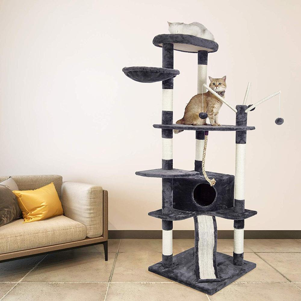 Cat'S Tree Scratcher Scratching Tower Fun Post Climbing Tree Toy Activity Centre Pet House Cat Furniture Scratching Post C05