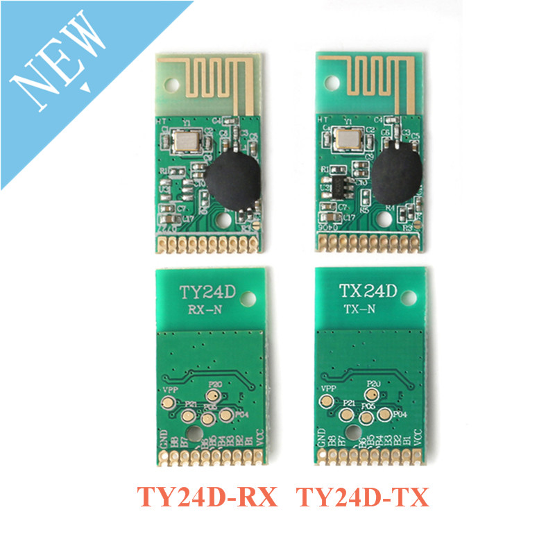2.4G Transmitter And Receiver Module Kit Wireless Remote Control Module TY24D 6 Channel Transmission Reception Control Distance