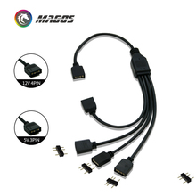 Uzatma kablosu anakart arayüzü 5V3PIN/12V4PIN AURA RGB 1 2/3/4 arayüzü Splitter adreslenebilir d RGB SYNC Hub JST 3Pin