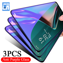 3Pcs 2.5D Purple Light Tempered Glass for OPPO Reno 3 2Z A5 A9 2020 ACE 2 Reno 10x Zoom F11 Pro F7 Protective Screen Protector