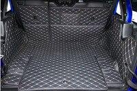 Gute qualität! Vollen satz auto stamm matten für Jeep Wrangler JL 4 tür 2020-2018 durable cargo-liner boot teppiche für wrangler 2019