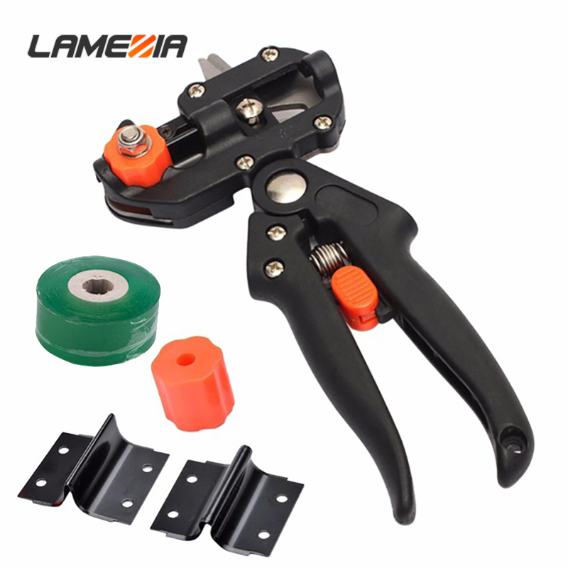 LAMEZIA Grafting Pruner And 2/3cm Graft Tape Film Chopper Vaccination Cutting Tree Plant Shears Garden Scissors