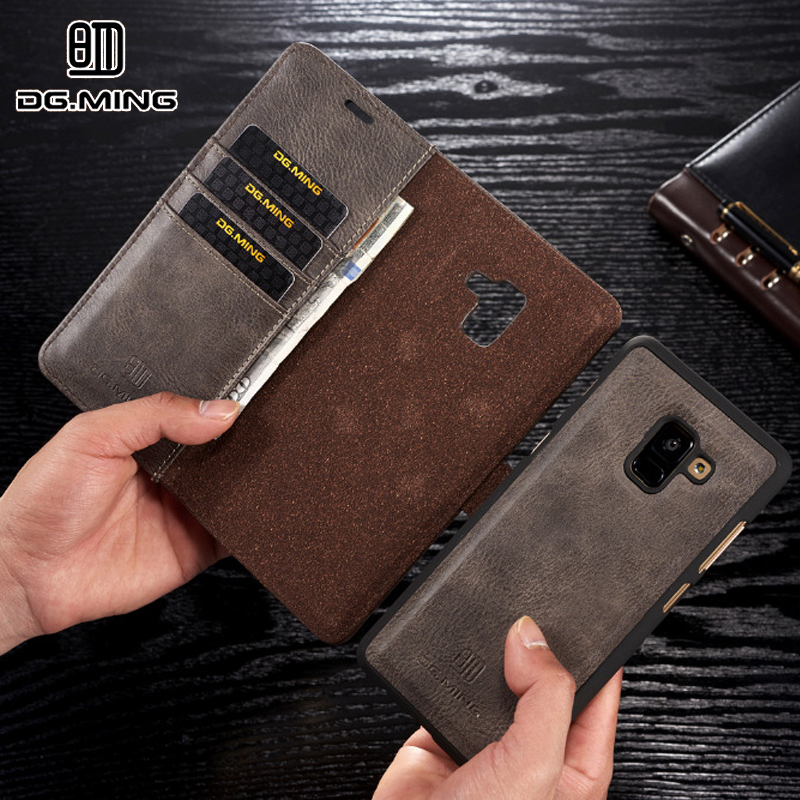 Pour Samsung A50 A40 A70 coque de téléphone aimant en cuir véritable portefeuille Stand couverture Fundas pour Samsung Galaxy A7 A8 A9 A6 Plus 2018