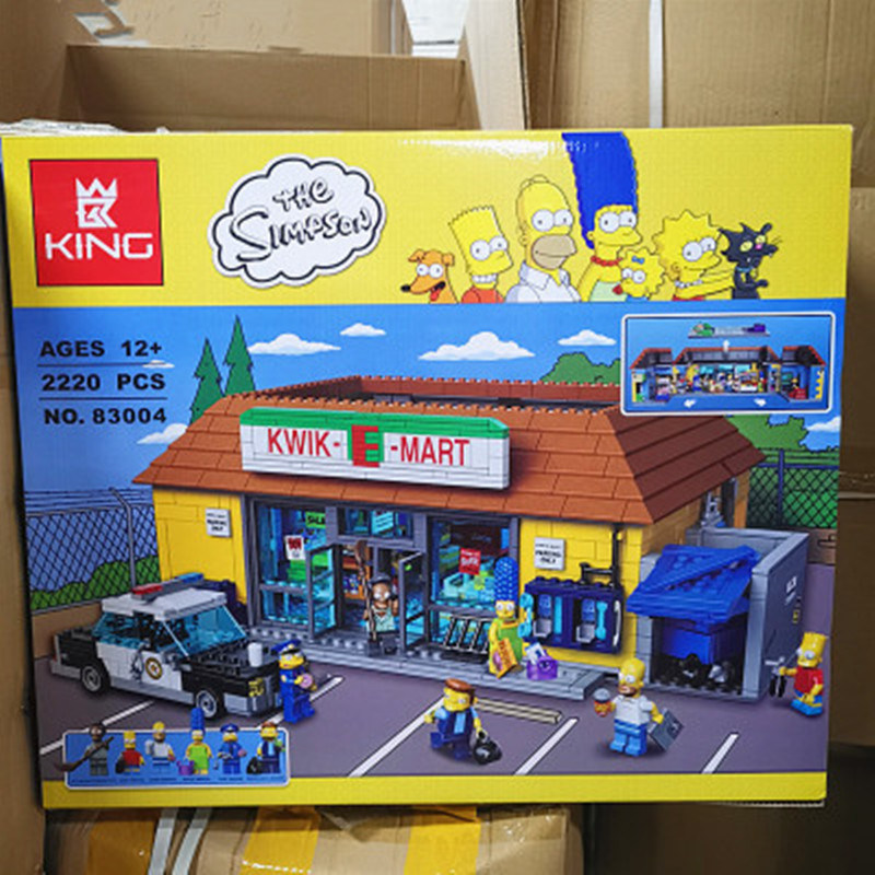 In Stock 16004 2232Pcs The Simpsons MERCURY-E-MART Action Model Building Block Bricks Compatible Legoinglys  71016 Creator Toy