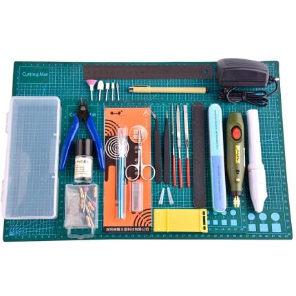 Ensemble doutils de modélisation modèle bricolage passe-temps accessoires tapis de coupe auto-guérison rectifieuse outils de polissage Kit pour outil Gundam
