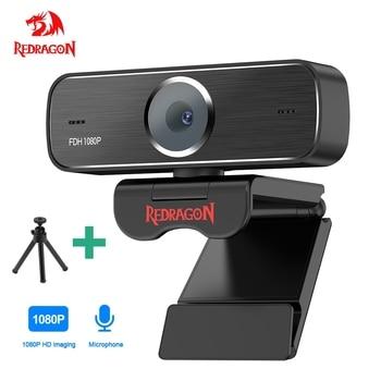 REDRAGON HD Webcam Built-in Microphone Smart 1920 X 1080P 30fps Web Cam Camera USB Pro Stream Camera for Desktop Laptops PC Game