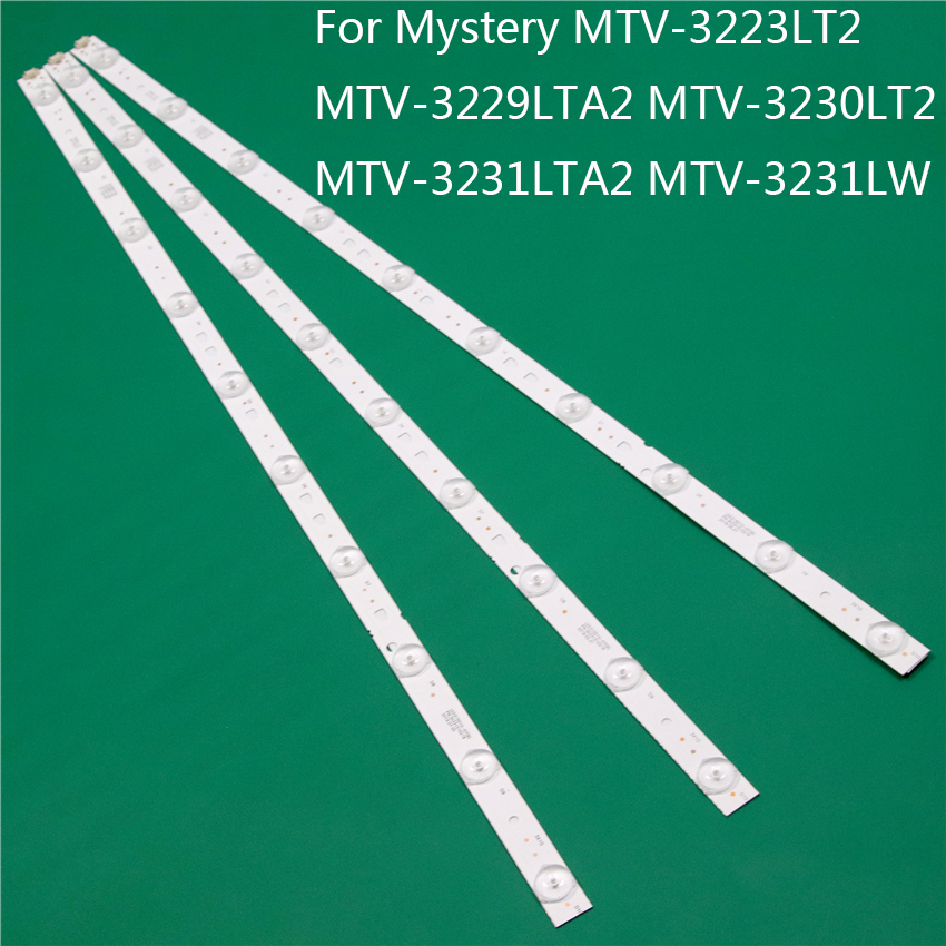 LED TV Illumination For MYSTERY MTV-3223LT2 MTV-3229LTA2 MTV-3230LT2 MTV-3231LTA2 MTV-3231LW LED Bar Backlight Strip Line Rulers