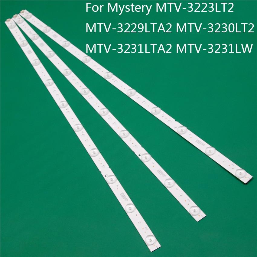 LED TV Illumination For MYSTERY MTV-3223LT2 MTV-3229LTA2 MTV-3230LT2 MTV-3231LTA2 MTV-3231LW LED Bar Backlight Strip Line Rulers