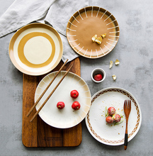 Creative Retro Ceramic Plate Japanese Ceramic Tableware Dishes and Plates Sets  Noodle Bowl Salad Bowl 5 6 8 inch japanese cherry blossom ceramic ramen bowl large instant noodle rice soup salad bowl container porcelain tableware