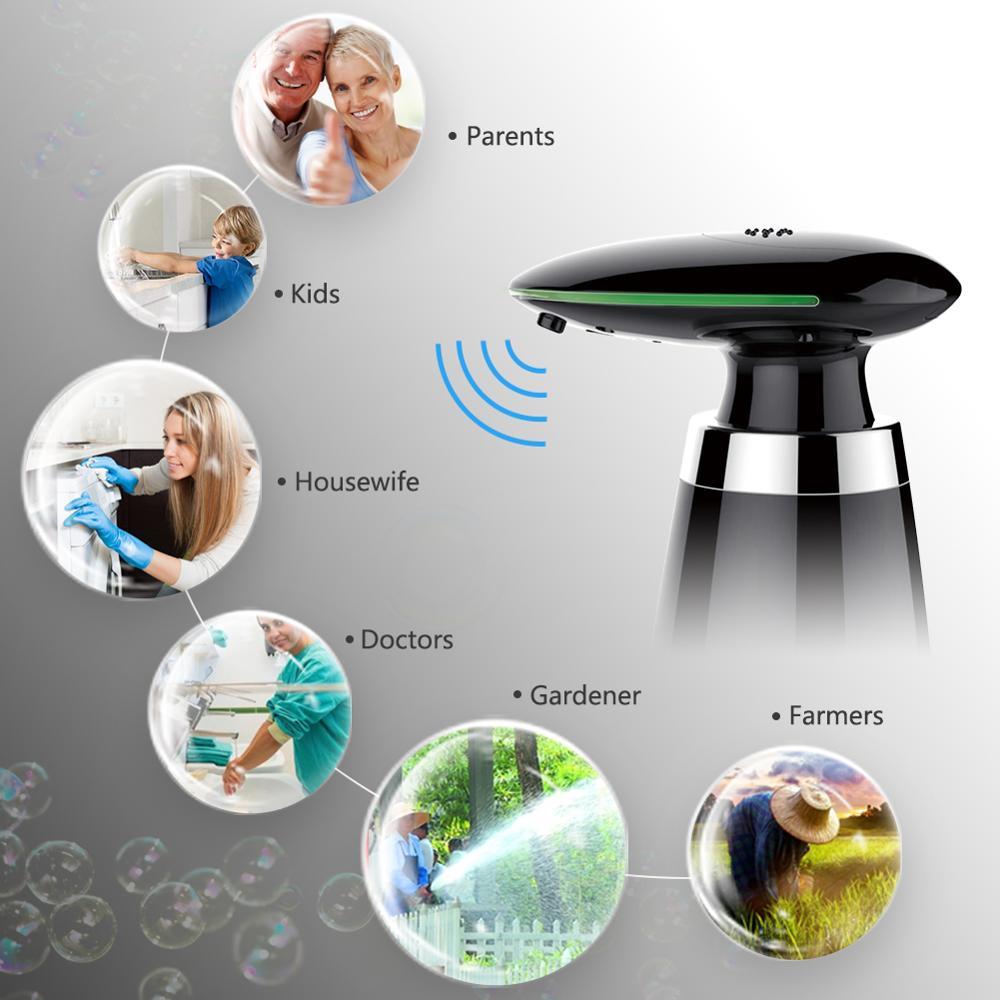 SVAVO 350ml Automatic Soap Dispenser Infrared Touchless Motion Bathroom Dispenser Smart Sensor Liquid Soap Dispenser for Kitchen 4