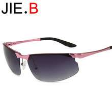 New high quality aluminum-magnesium sunglasses, mens and womens driving mirror, outdoor goggles, pink, blue
