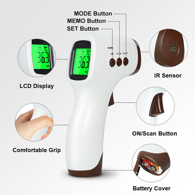 Digital Infrared Thermometer Non-Contact Medical Forehead Thermometer Baby Adult Household Temperature Monitor 3