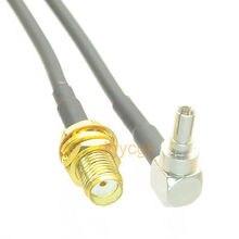 """DHL/EMS 50 комплектов* кабель CRC9 штекер под прямым углом к SMA «мама» для адаптера RG174 джемпер pigtail """"-h2"""