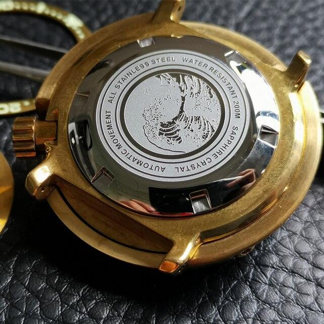 Фото 47 мм сапфировое стекло бронза тунец часы чехол подходит для цена