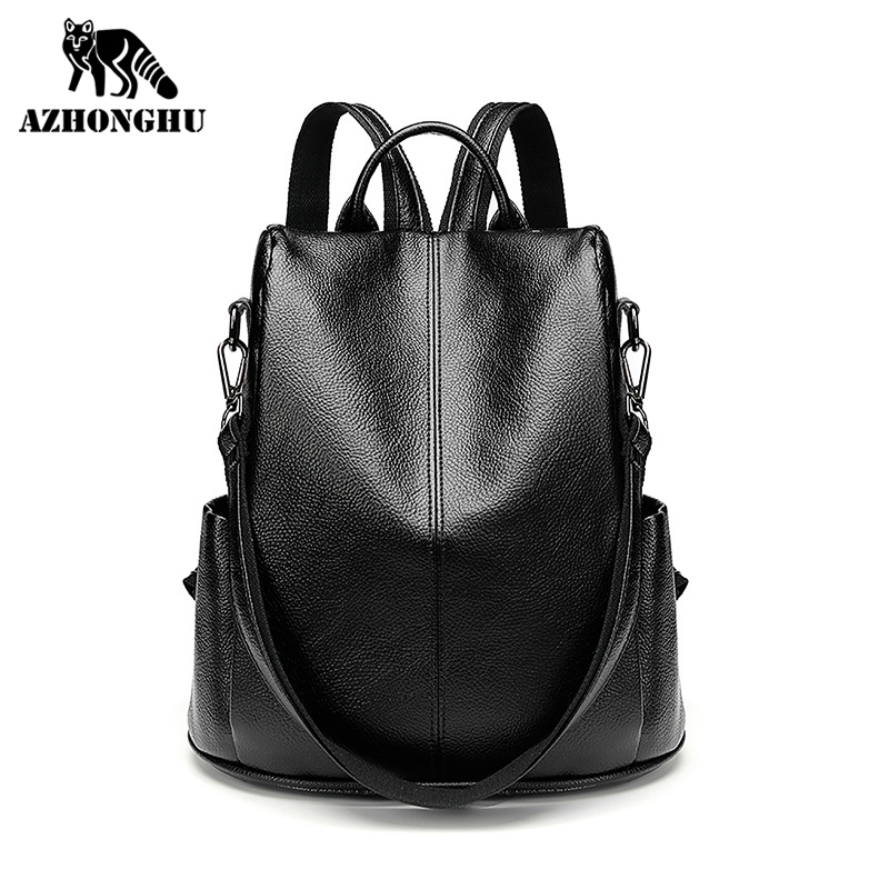 Backpack Women 2021 Anti-Theft New Korean Fashion Soft Leather Backpack Versatile Multi-Purpose Shoulder Bag Tide Large Capacity