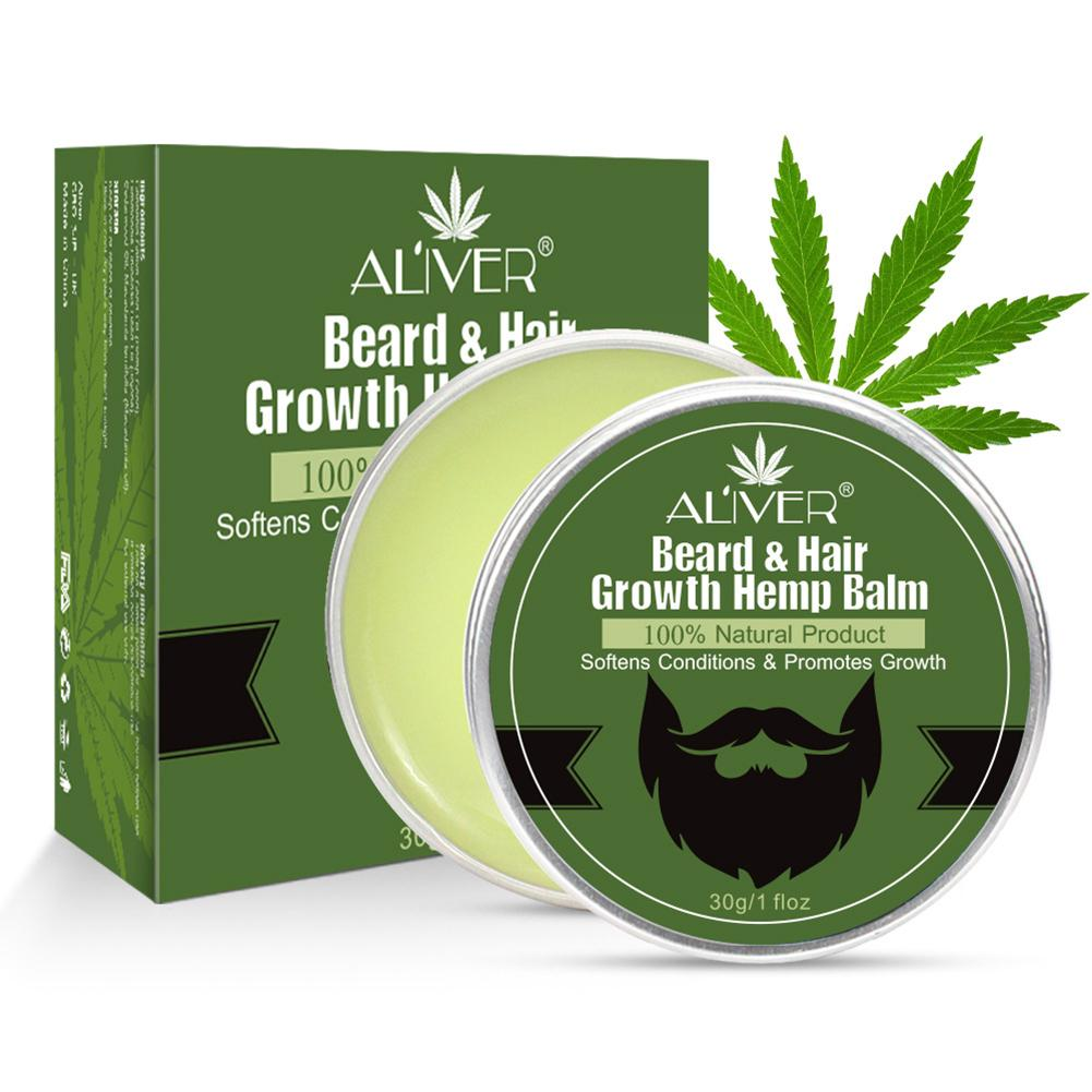 Beard Growth Cream Plant Essential Handmade Beard Balm Hair Care Tool 30g Soft Dandruff Wax Moisturizes Repairs Beard Healthy