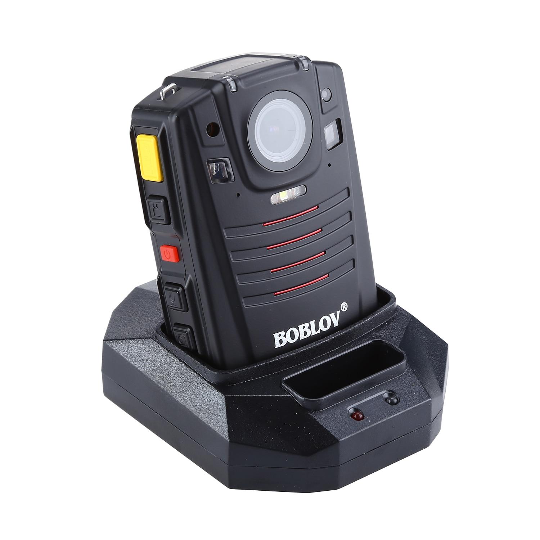 BOBLOV HD66 07 Body Police Video Camera 2 Batteries DVR 64GB Law Enforcement Cam 16X digital zoom 170° Wide Angle Pocket CameraSurveillance Cameras   -