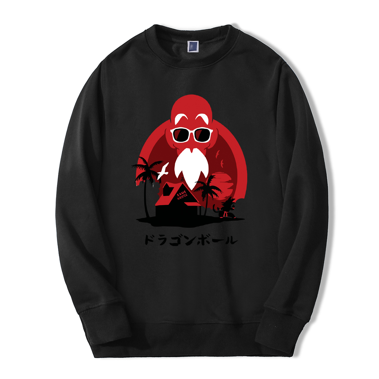Japan Anime Dragon Ball Master Roshi Hoodies Men 2019 Autumn Winter Fleece High Quality Loose Fit Casual Sweatshirts New Hoodie