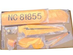 Image 4 - J3 電動リモートコントロール航空機すべての光 wood 固定翼のような航空機グライダー模型飛行機 8