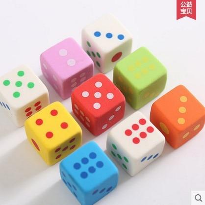 3 Pcs/set Kawaii Rubber Erasers Cartoon Erasers For Kids Creative Dice Eraser Color Cube Rubber Kids Eraser Christmas Gift