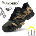 Suadeex dropshipping sapatos de segurança masculino mulher de aço toe sapatos de trabalho respirável indestrutível bota de segurança do trabalho tamanho 48