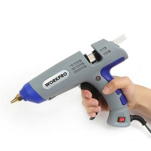 Image 3 - WORKPRO pistola de pegamento de 30W, herramientas de bricolaje, pistola de pegamento de fusión en caliente de alta temperatura con 20 uds, barras de pegamento Premium para manualidades, uso de decoración navideña
