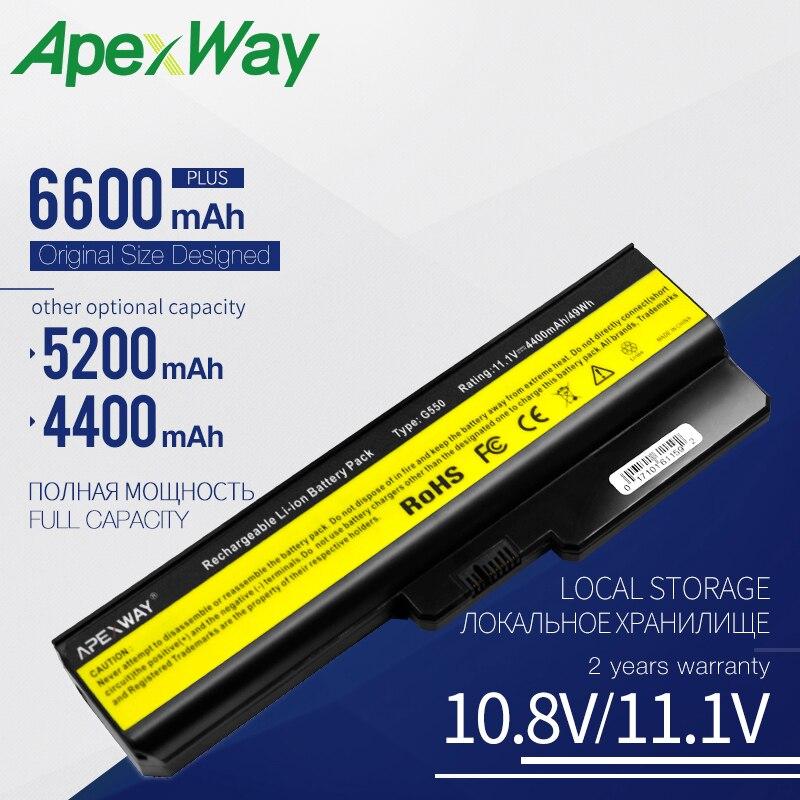 Apexway Laptop Battery For Lenovo 3000 G430 G450 G530 G550 N500 Z360 B460 B550 V460 V460A V450 G455 G555 L08S6Y02 L08L6C02