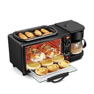 Трехместная многофункциональная машина для завтрака, жареная под жарким кофе, бытовая печь для хлеба, тостеры