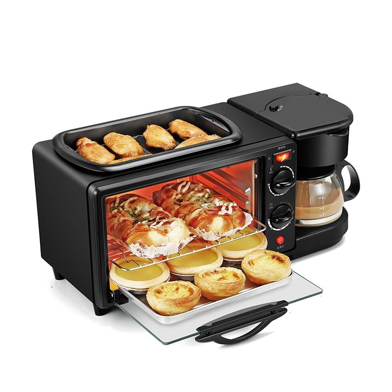 トリプル多機能朝食機揚げ下でローストメイクコーヒー家庭用パンオーブントースター