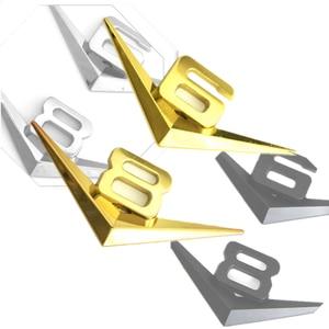 Image 4 - Diseño de coche 3D Metal V6 V8 3D cromado coche traseras pegatinas emblema insignia etiqueta para audi A3 A4 A7 mercedes Accesorios