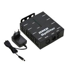 DMX512 Ottico Splitter Portatile 8 Canali Amplificatore di Distribuzione per il Partito DJ Show Club Discoteca KTV Luce Della Fase