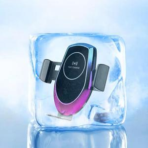 Image 3 - Qi 15 w carro sem fio auto hholder carregador de vidro sucção baseado veículo sem fio para iphone xr xiaomi huawei cabo forte