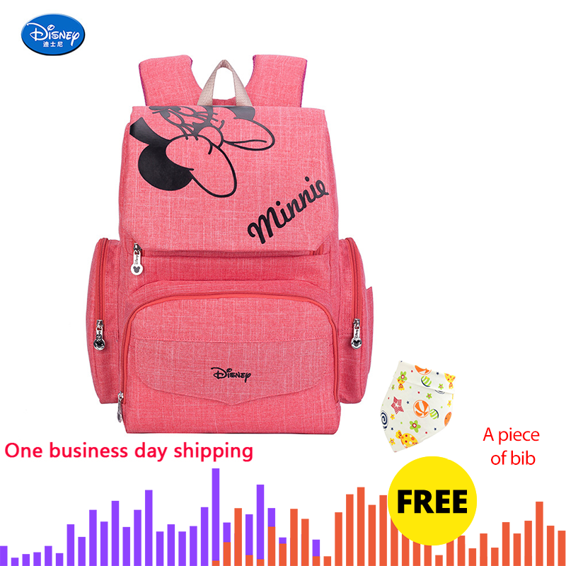Disney Mickey Minnie Baby Diaper Mom Mummy Bags Maternal Stroller Bag Nappy Backpack Maternity Organizer Baby Girl Diaper Bags
