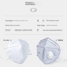 10PCs KN95 Folding Valved Dust Mask PM2.5 Anti Virus Formaldehyde Bad Smell Bacteria Proof Face Mouth N95 Breathable Face Mask
