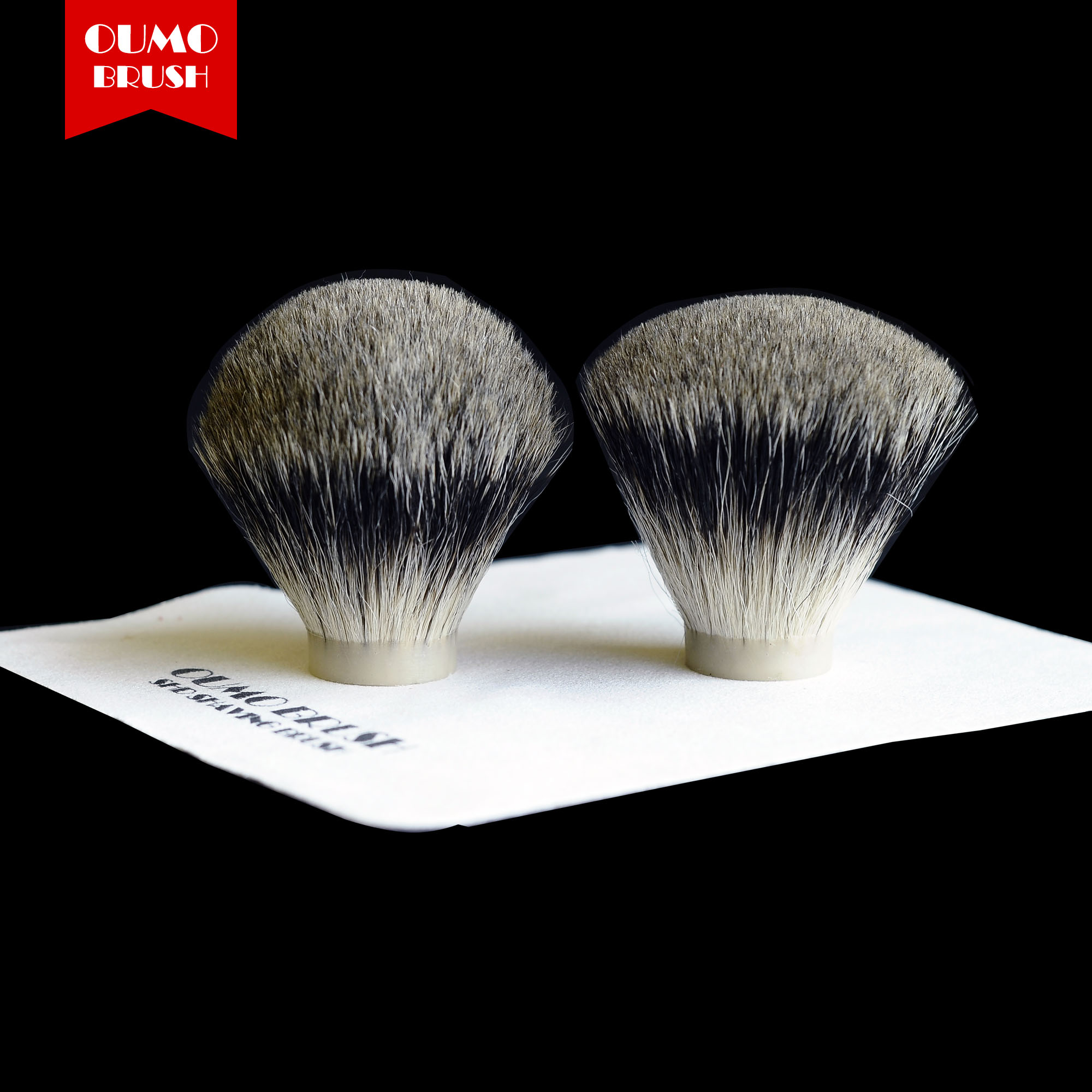 OUMO BRUSH-  SHD Pure Two Band Badger Hair Knot Shaving Brush Knots