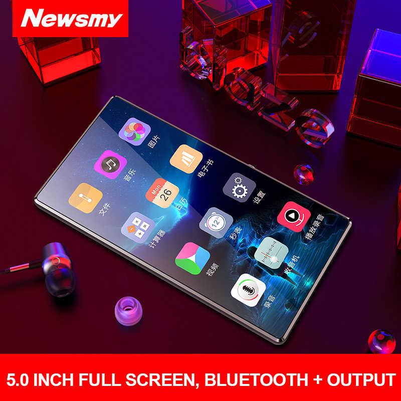 新ポータブル MP4 プレーヤータッチスクリーンサポート Bluetooth 5 インチ Mp3 小説電子書籍 MP4 音楽プレーヤー FM ラジオビデオ 8 ギガバイト 32 グラムウォークマン