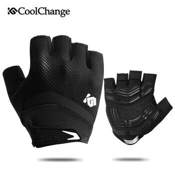 Противоударные велосипедные перчатки CoolChange, дышащие перчатки для езды на велосипеде, спортивные противоскользящие велосипедные перчатки для мужчин и женщин