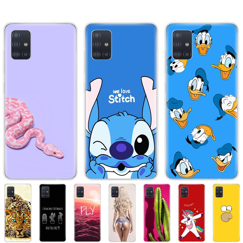 Silicon Case For Samsung Galaxy A51 Case Soft TPU Back Cover For Samsung A51 A515 6.5inch Coque Bumper Protection Copas Cute