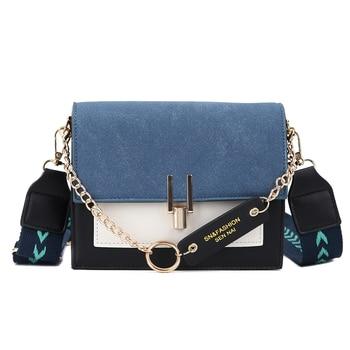 2020 new mini handbags women fashion ins ultra fire retro wide shoulder strap messenger bag purse simple style Crossbody Bags 8