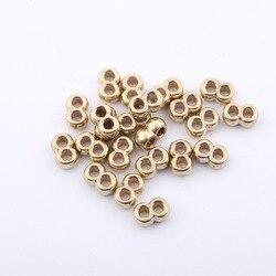 1000 piezas personalizadas 2mm latón doble agujero slider perlas espaciador