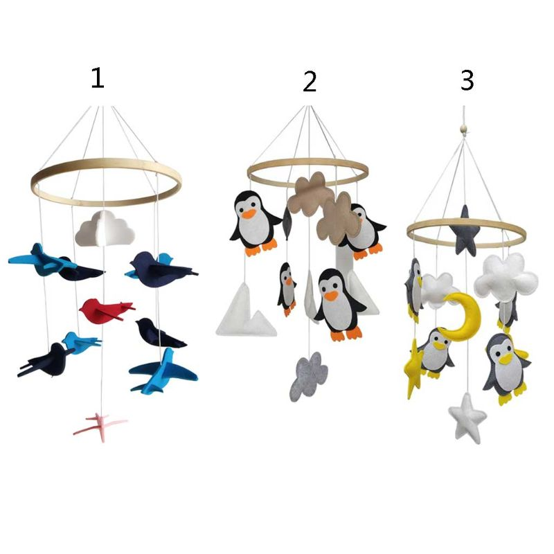 Baby Toddler Rattles Mobile Toys Crib Toy Bed Hanging For Baby Newborn Kids Crib Bed Bell Carousel Cots Handmade Room Decoration