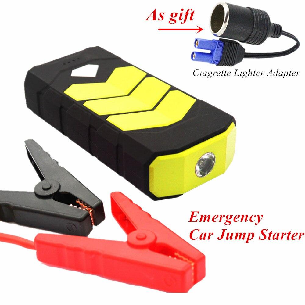 Multi-fonction 20000mAh dispositif de démarrage 12V 600A Jumper démarreur batterie externe essence Diesel chargeur de voiture pour voiture batterie Booster LED