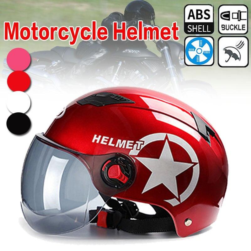 Motorcycle Helmet Scooter Bike Open Face Half Baseball Cap Anti UV Safety Hard Hat Motocross Helmet Multiple Color Protect|Helmets| |  - title=
