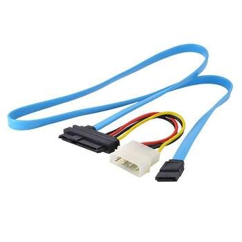 SAS SCSI conectada en serie SFF-8482 a Cable SATA HDD Disco Duro adaptador de Cable 70cm conectar controlador SAS a discos duros SATA