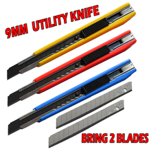 Utility knife Black Art Supplies Utility Knife Paper And Office Knife Diy Art Cutter Knife Stationery School Tools Paper Cutter cheap CN(Origin) LC303B High carbon steel 0 38mm*9mm*80mm Yellow blue red